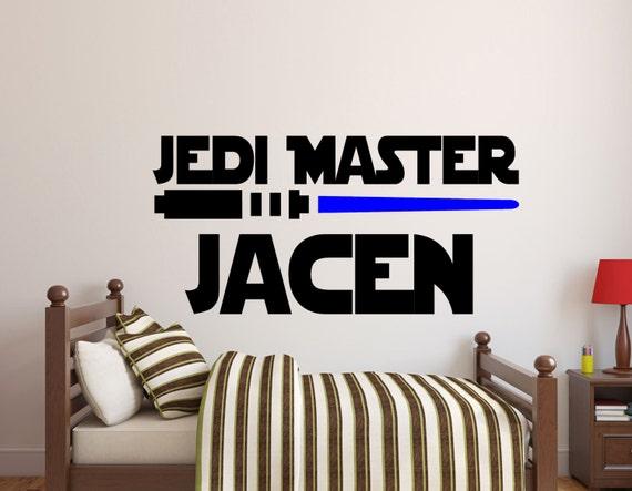 Star Wars Wall Decals-Jedi Master Name Decal-Star Wars