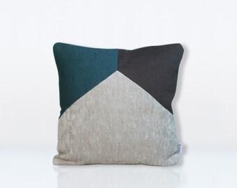 cushion calvi duck blue & grey anthracite 40x40cm