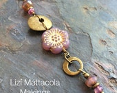 Dusty pink long necklace