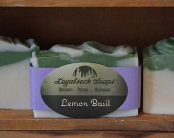 Lemon Basil Soap - organic, handmade, all natural, cold process, vegan