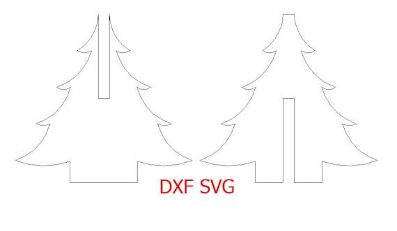 Sapin de noel svg et dxf fichier pour d coupe laser et cnc - Dessin dxf gratuit ...