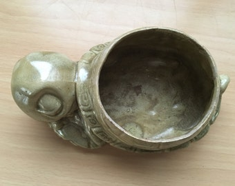Vintage Turtle Cache Pot - Price Includes Shipping