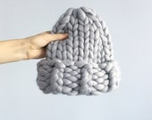 Woolnia Super chunky big merino wool hat.Chunky hat.Merino wool.Hand knit hat.Gift for women.