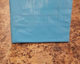 Blue duct tape wallet with ID slot