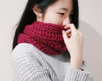 Fruit Mix Cowl - Colour Knit Neckwarmer - Winter Cowl - Handmade Knit Cowl