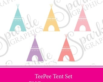 Teepee Tent Clipart, Tribal Clipart, Tent Clipart, Native Clipart, Pastel Tent Clipart, Teepee, Teepee Tent, Aztec Clipart, Aztec, Native