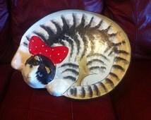 Paper Mache Cat Tray