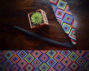 Tie back headband- Prism