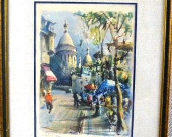 Marius Girard - Paris Sacre Coeur et Place du Tertre *MAKE OFFER*