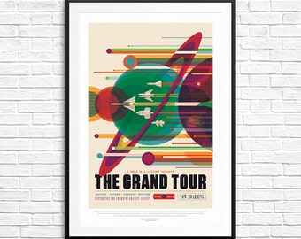 NASA Grand Tour Poster, Nasa Posters, Nasa Poster set, Grand Tour Mission, Space Art Posters, Space Posters, Classroom Posters, NASA prints