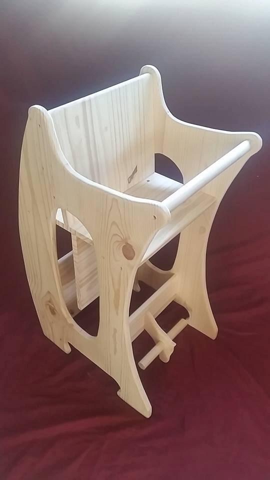 Triple Use Childrens Wooden Rocker Desk High Chair