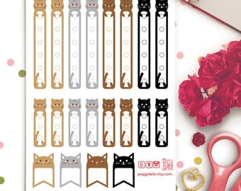 Cats Checklists Planner Stickers | Erin Condren Vertical | Horizontal | PD034 | Animals | Pets