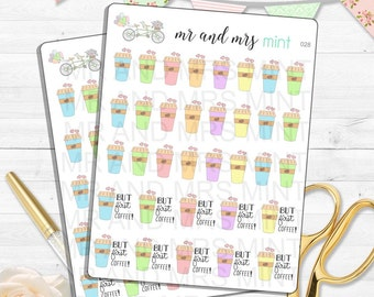 Coffee Mug Planner stickers coffee mug stickers coffee cup planner stickers coffee cup stickers coffee stickers coffee planner sticker | 028