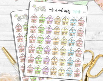 House Planner Stickers mortgage due rent due house payment home bill due party work reminder house visit house work erin condren | 014