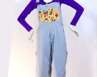Jean overalls Pattern Tattoo pinup size M / L Brand: Teddy Smith