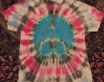 Peace sign tie dye tshirt