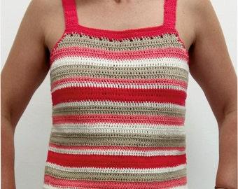 crochet top striped