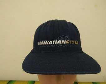 Rare Vintage HAWAIIAN STYLE Surf Cap Hat Free size fit all