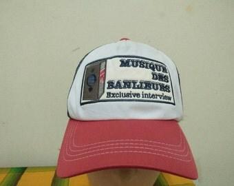 Rare Vintage MUSIQUE DES BANLIEUES Exclusive Interview Cap Hat Free size fit all