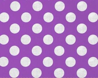 Purple Ta Dot -  end of bolt 1/4 YARD - HALF YARD - Michael Miller - Cotton Fabric - Quilting Fabric