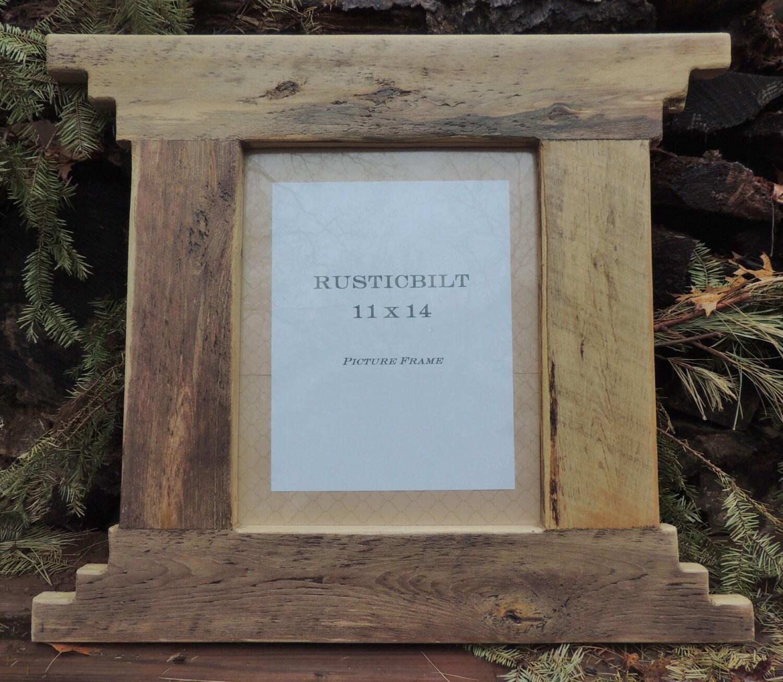 Cuadro madera reciclada marco casa rústica Rancho casa