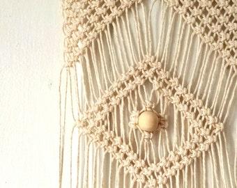 Macrame Wall Hanging / Modern Macrame curtain / Wall Art / Boho chic Wall Hanging / Wall Tapestry / Macrame Tapestry / bohemian wedding dec