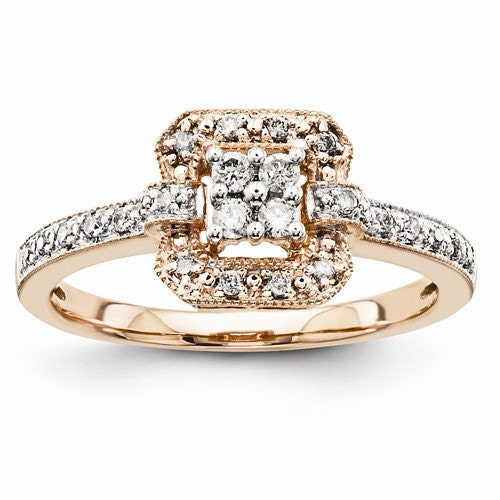 Gorgeous 14 karat rose gold multi stone carat for 14 karats fine jewelry