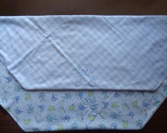 Light Blue Flannel Baby Blanket