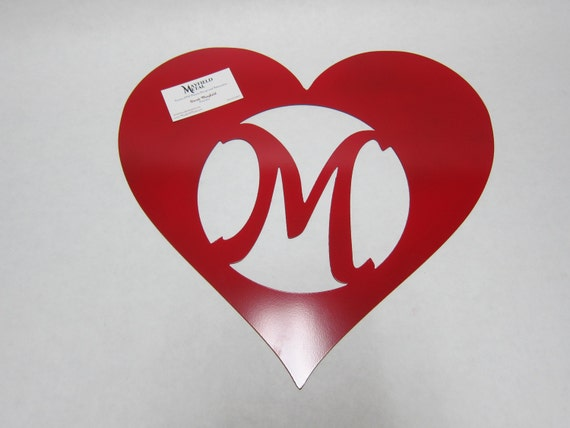 Valentine's Door and Wall Hanger,  Custom CNC Plasma Cut Metal Art