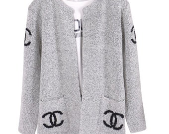 chanel inspired cardigan sweater