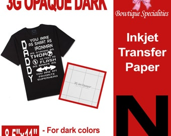 Neenah 3G Opaque transfer paper  Dark transfer paper  Iron on paper