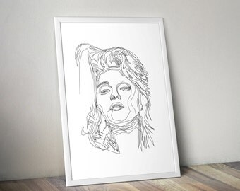 Madonna - One Line Poster