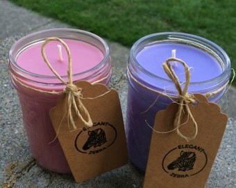 Custom Made Mason Jar Candle Handpoured Soy Wax, Design your own candle