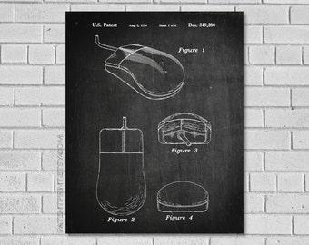 Computer Mouse Patent Print - Computer Patent - Computer Poster - Computer Art - Computer Decor - Computer Blueprint - Patentprint TC280