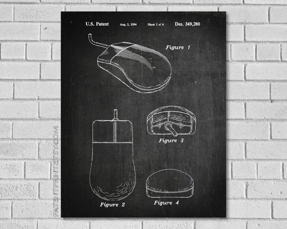 Computer mouse patent print computer patent computer like this item malvernweather Choice Image