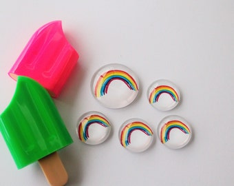 FREE SHIPPING AUS - Rainbow Glass Magnets - Super Strong Magnet - Rainbows - Event or Party Favors - Fridge Magnets