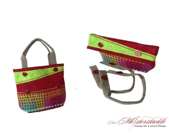 Clutch or purse with handle 2 in 1 ALLROUNDER
