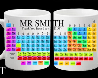 Personalised Teacher Chemistry Science Periodic Table  Mug Gift Present Thank You School