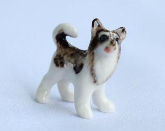 dog ceramic, Siberian Husky ceramic, home decoration