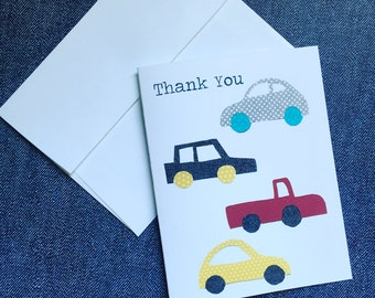Beep Beep! Cars Thank You Notecard  Envelope Set, Set of 10
