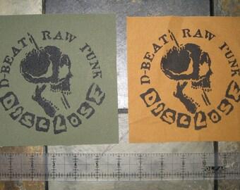 Disclose Patch - DIY Crust Anarcho Punk D-Beat Avskum Discharge Fleas and Lice Anti Cimex Nausea Amebix Wolfbrigade Doom Los Crudos