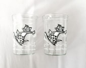 Welchs Jelly Glasses // Tom and Jerry Cartoon // Vintage Jelly Glasses // 1990s