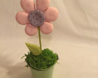 Cold porcelain flower pot