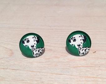 Dalmatian Earrings, Dalmatian jewellery, Dog Earrings, dog stud earrings, pet jewellery,