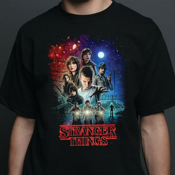 stranger things t shirt men 39 s and women 39 s. Black Bedroom Furniture Sets. Home Design Ideas