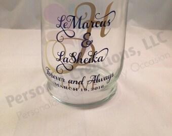Personalized Hurricane Vase