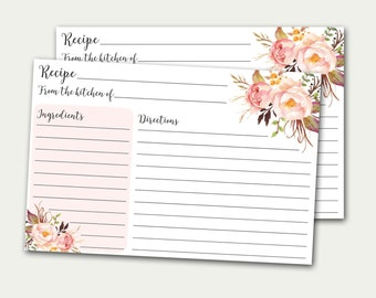 free recipe card templates to type on
