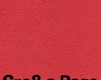 Cre8-a-Page E-4 Handmade Bright Red Embossed Paper 12x12 Scrapbooking, 10 Sheets