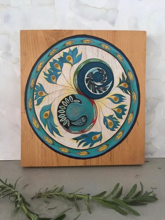 Tao of Feathers - Original Oil on Wood