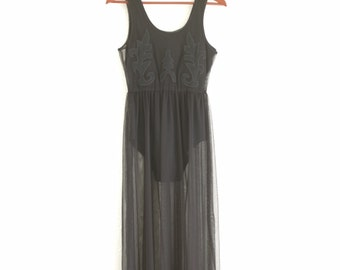 Vintage Sheer Black Dress